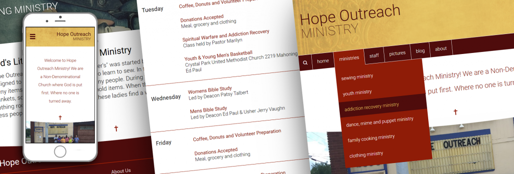 Hope Outreach Ministry Website Teaser