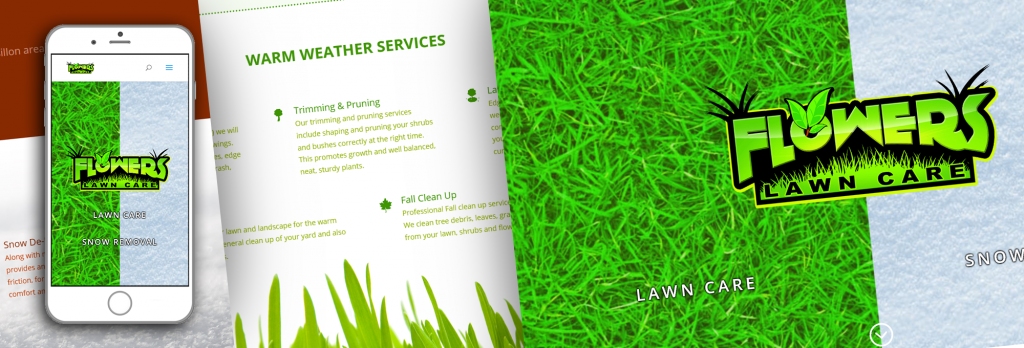 Flowers Lawn Care Website Teaser